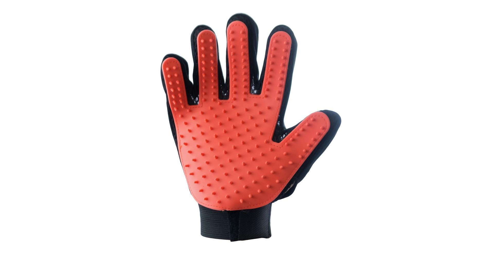 Перчатка для вычесывания шерсти PRC - True Touch на правую руку 4