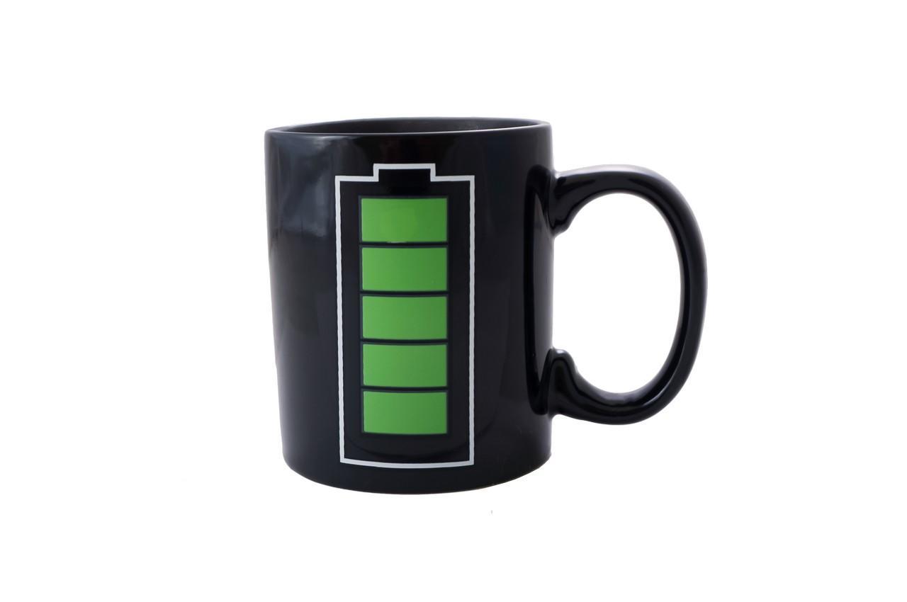 Чашка керамическая хамелеон Elite - 300 мл батарейка 2