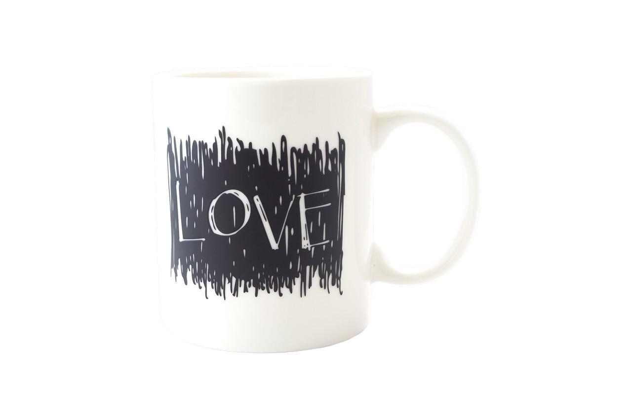 Чашка керамическая хамелеон Elite - 300 мл Love 1