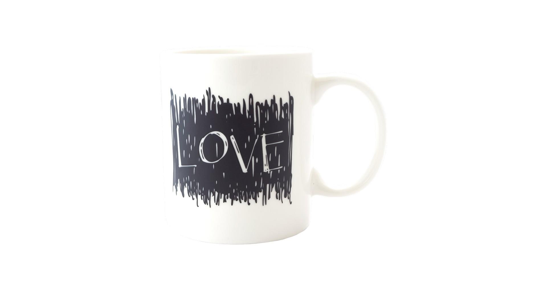 Чашка керамическая хамелеон Elite - 300 мл Love 4