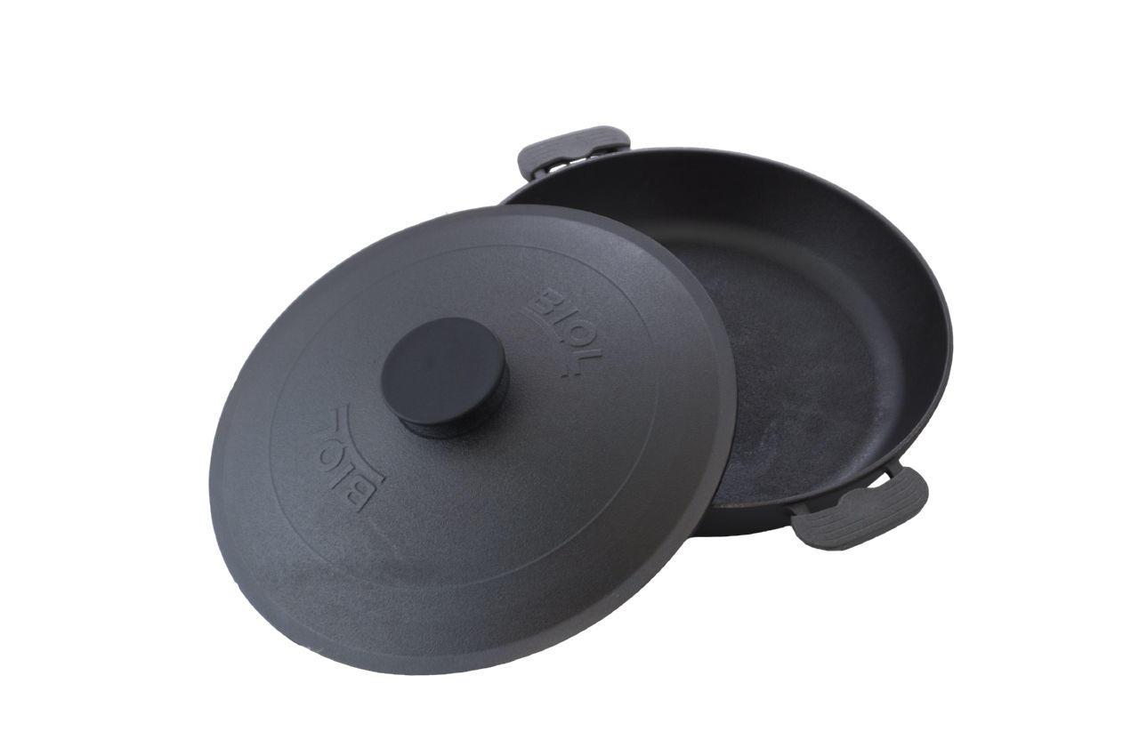 Сковорода жаровня чугунная Biol - 340 мм с крышкой 2
