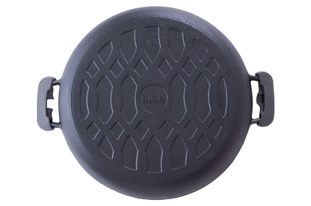 Сковорода жаровня чугунная Biol - 360 мм с крышкой 4