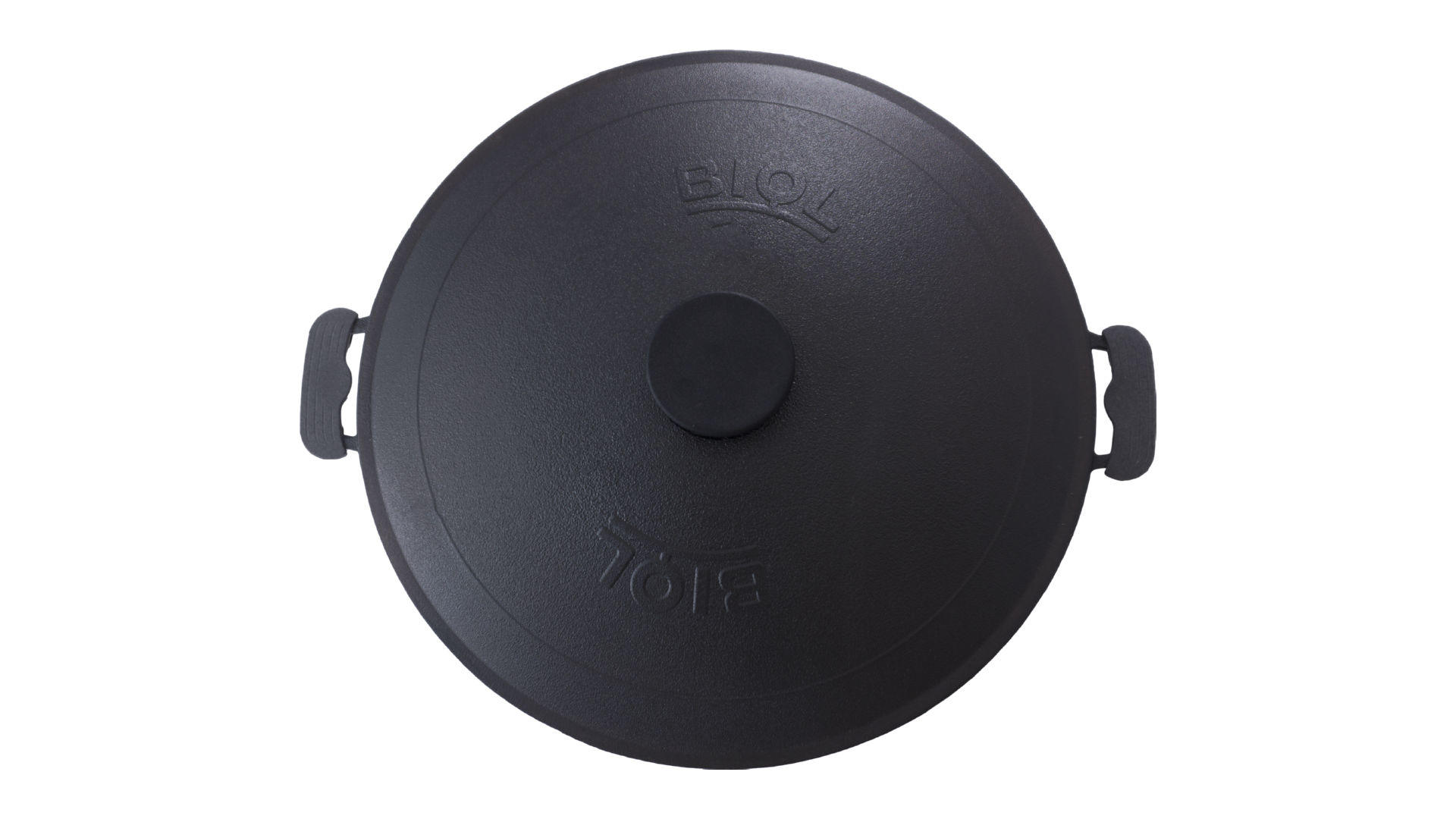 Сковорода жаровня чугунная Biol - 400 мм с крышкой 5