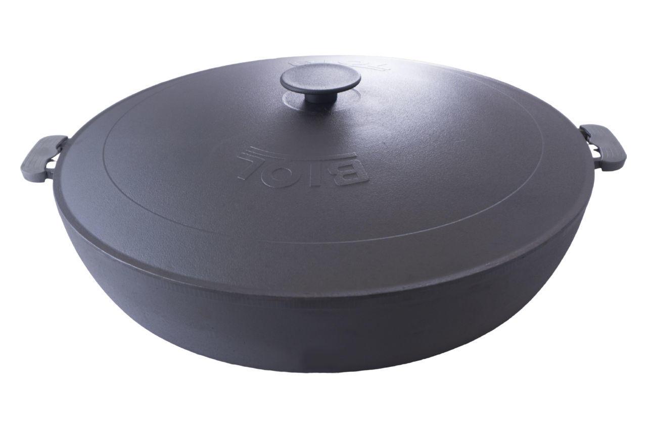 Сковорода жаровня чугунная Biol - 500 мм с крышкой 2