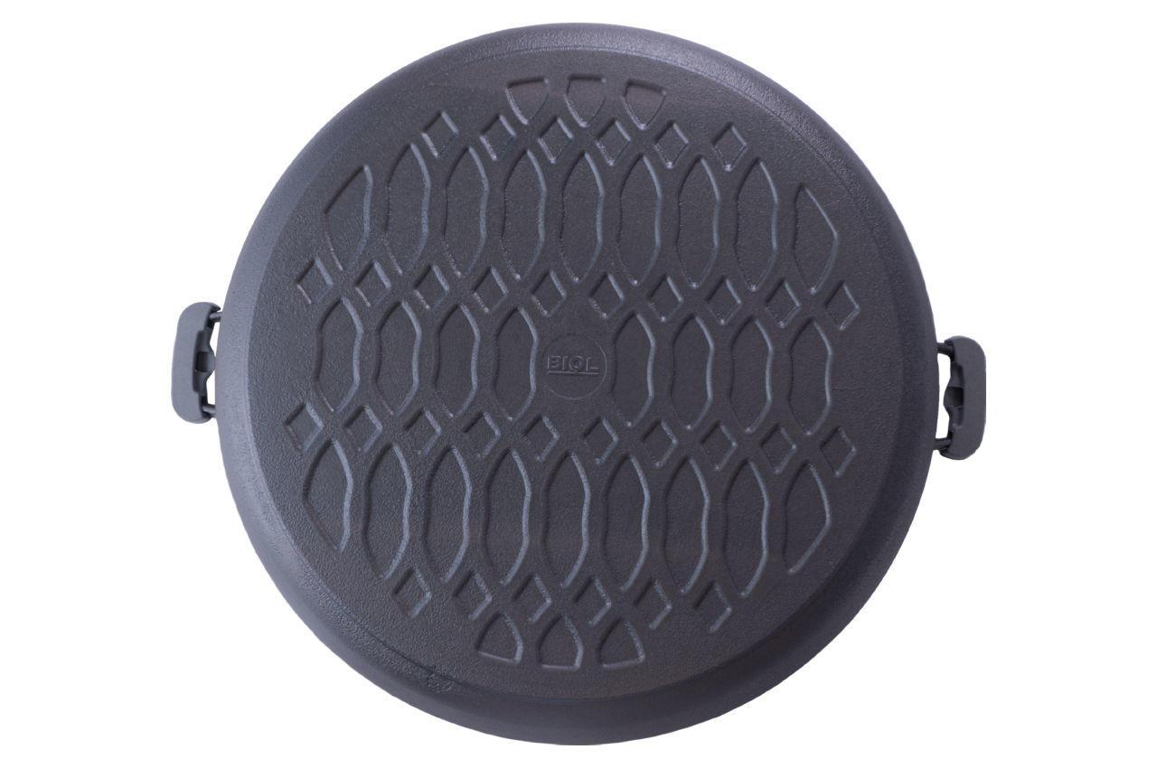 Сковорода жаровня чугунная Biol - 500 мм с крышкой 4