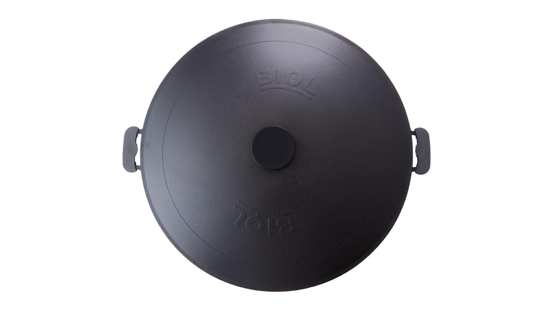 Сковорода жаровня чугунная Biol - 500 мм с крышкой 5