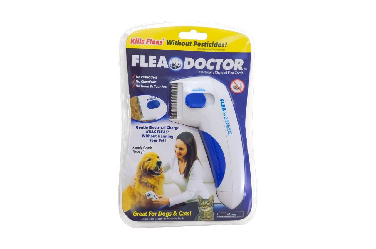 Электрическая расческа от блох для собак и котов Elite - Flea Doctor 2
