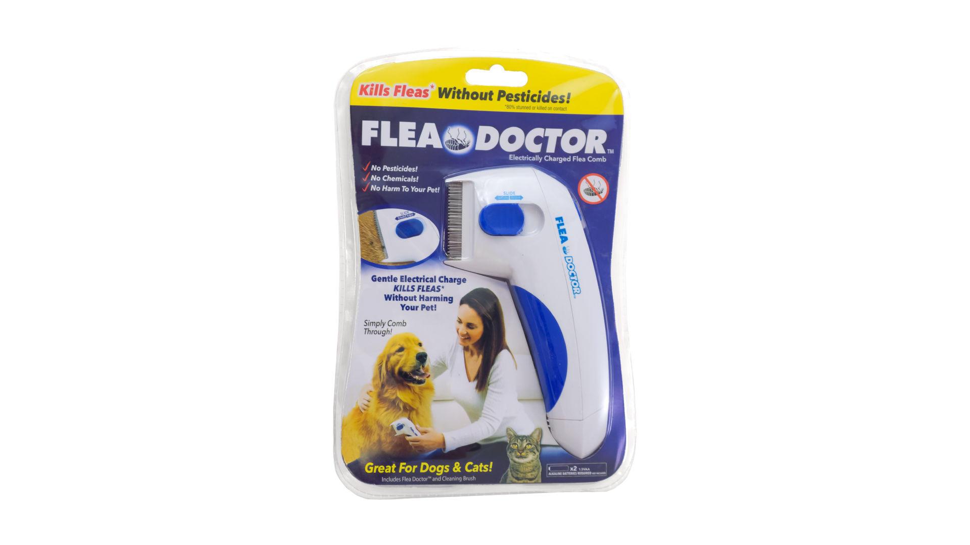 Электрическая расческа от блох для собак и котов Elite - Flea Doctor 3