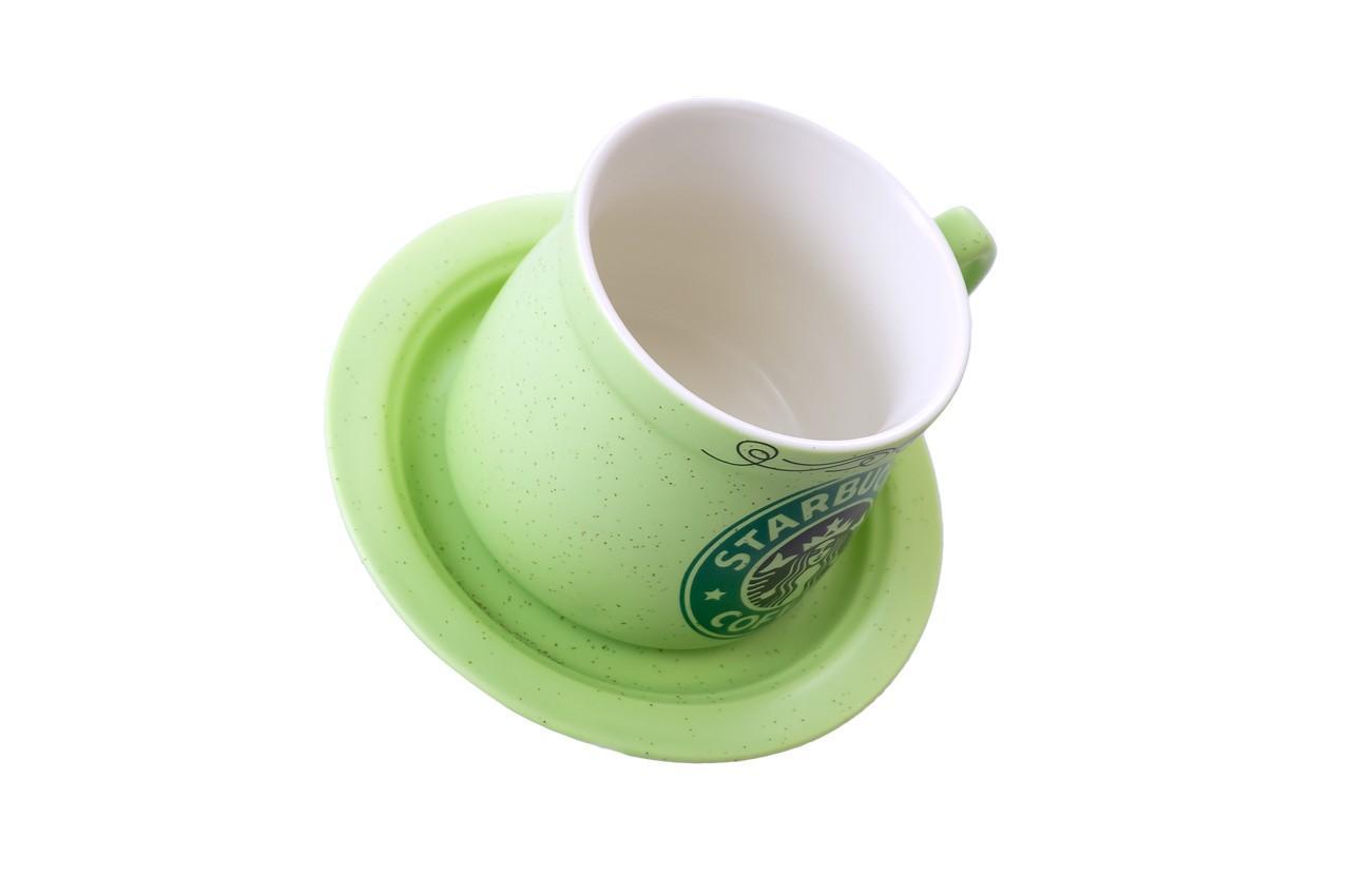Чашка с блюдцем керамическая Elite - 250 мл 2
