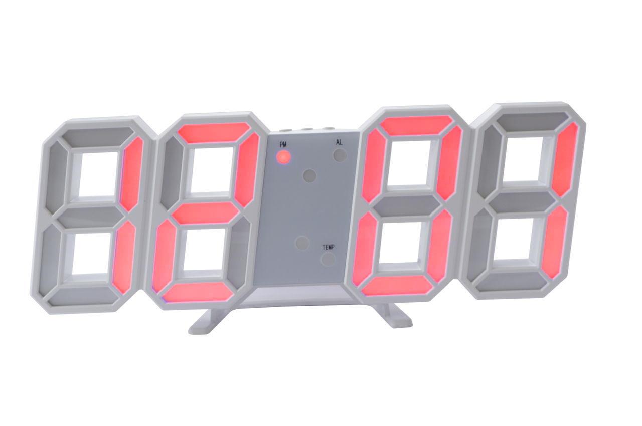 Часы настольные Elite - 6609 красные 1