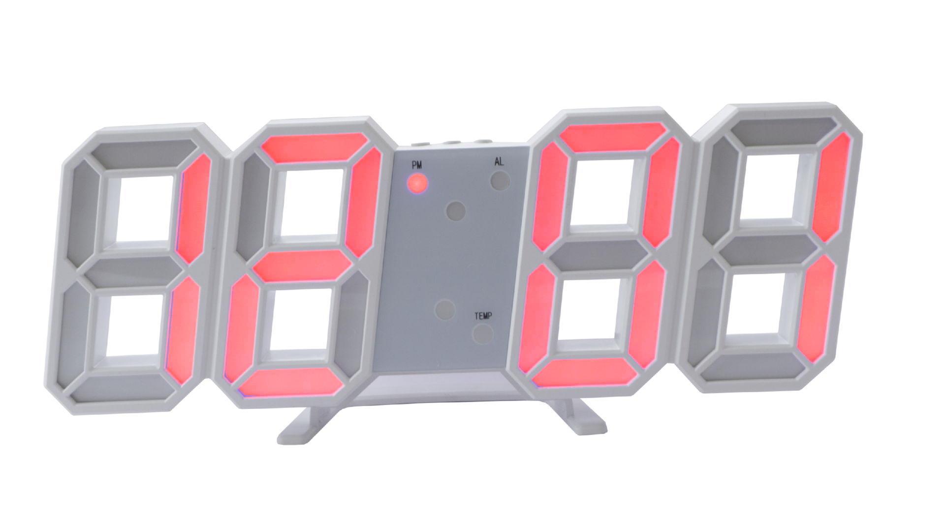 Часы настольные Elite - 6609 красные 4