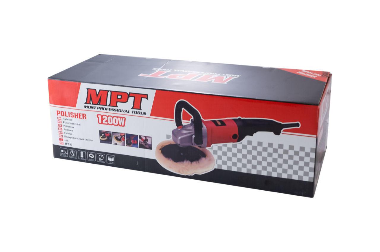 Шлифмашина полировальная MPT - 1200 Вт x 180 мм 4
