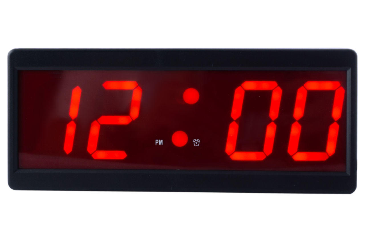 Часы настольные Caixing CX-2208-1 красные 1