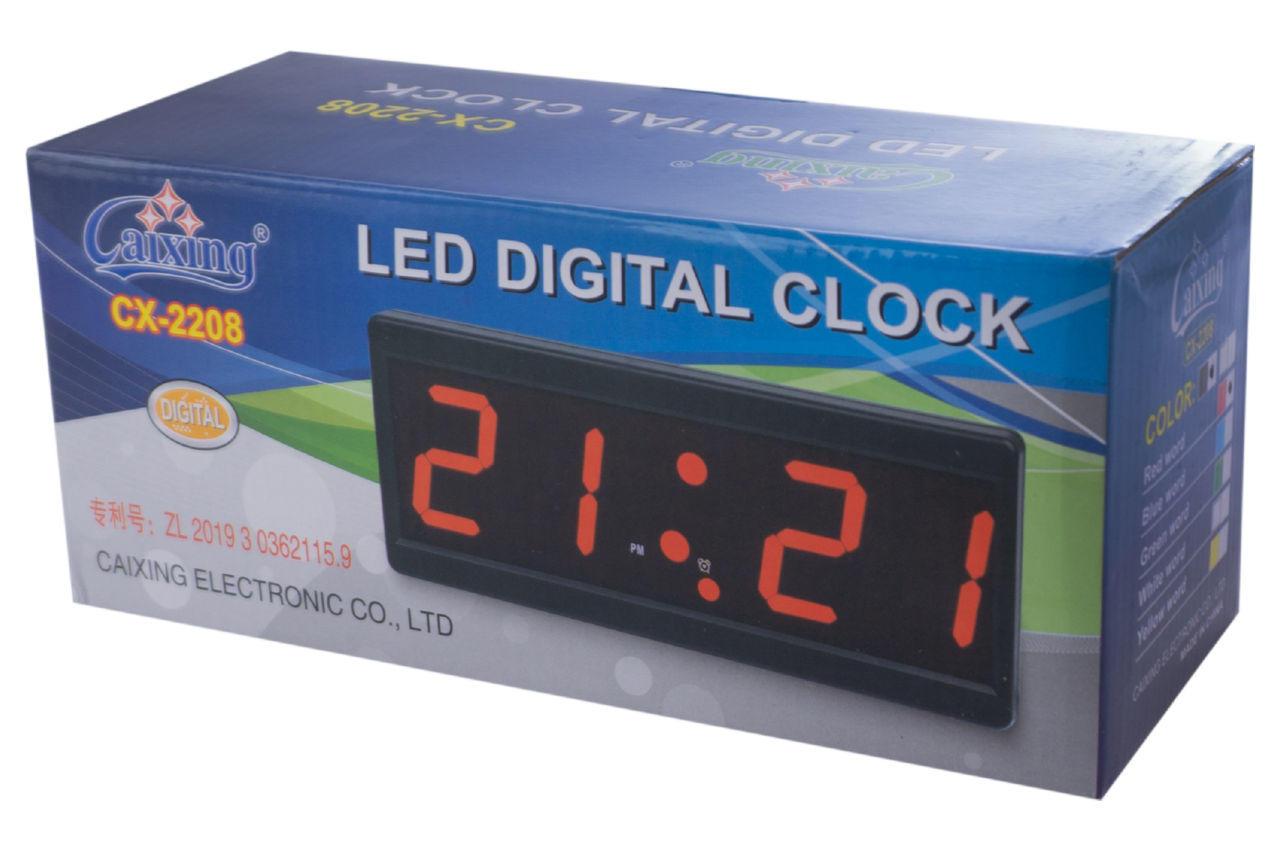 Часы настольные Caixing CX-2208-1 красные 5