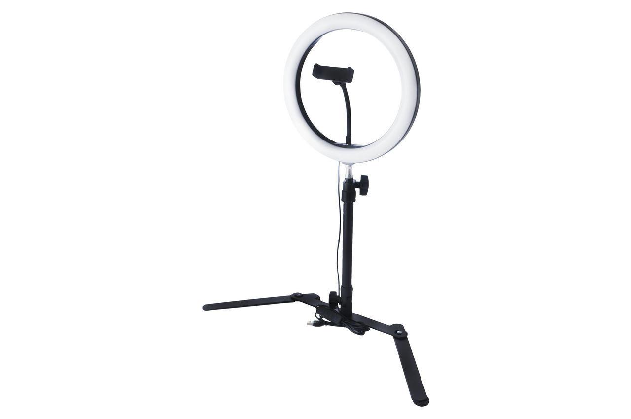 Кольцевая LED лампа со штативом Elite - 260 мм 2
