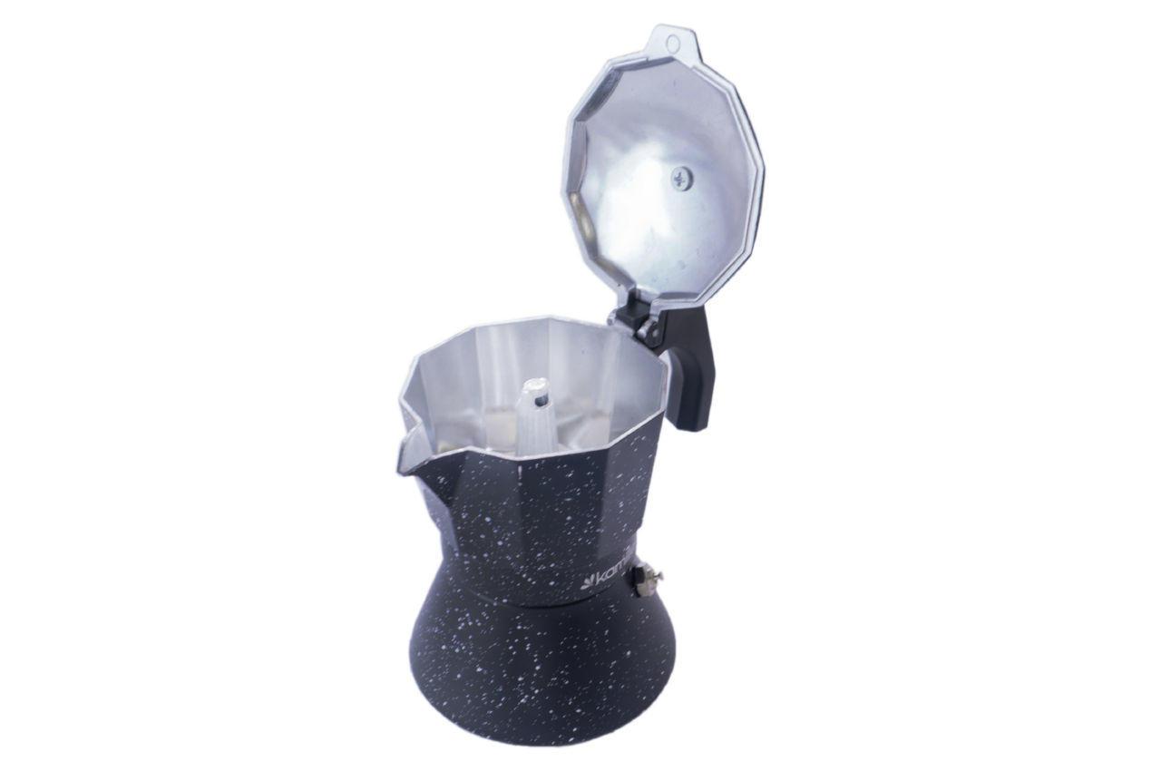 Кофеварка гейзерная алюминиевая Kamille - 150 мл индукция мрамор 3