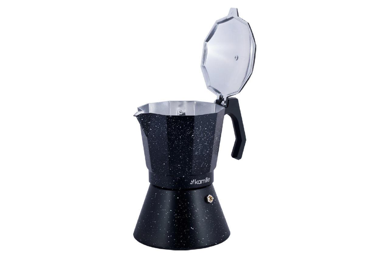 Кофеварка гейзерная алюминиевая Kamille - 600 мл  мрамор 5