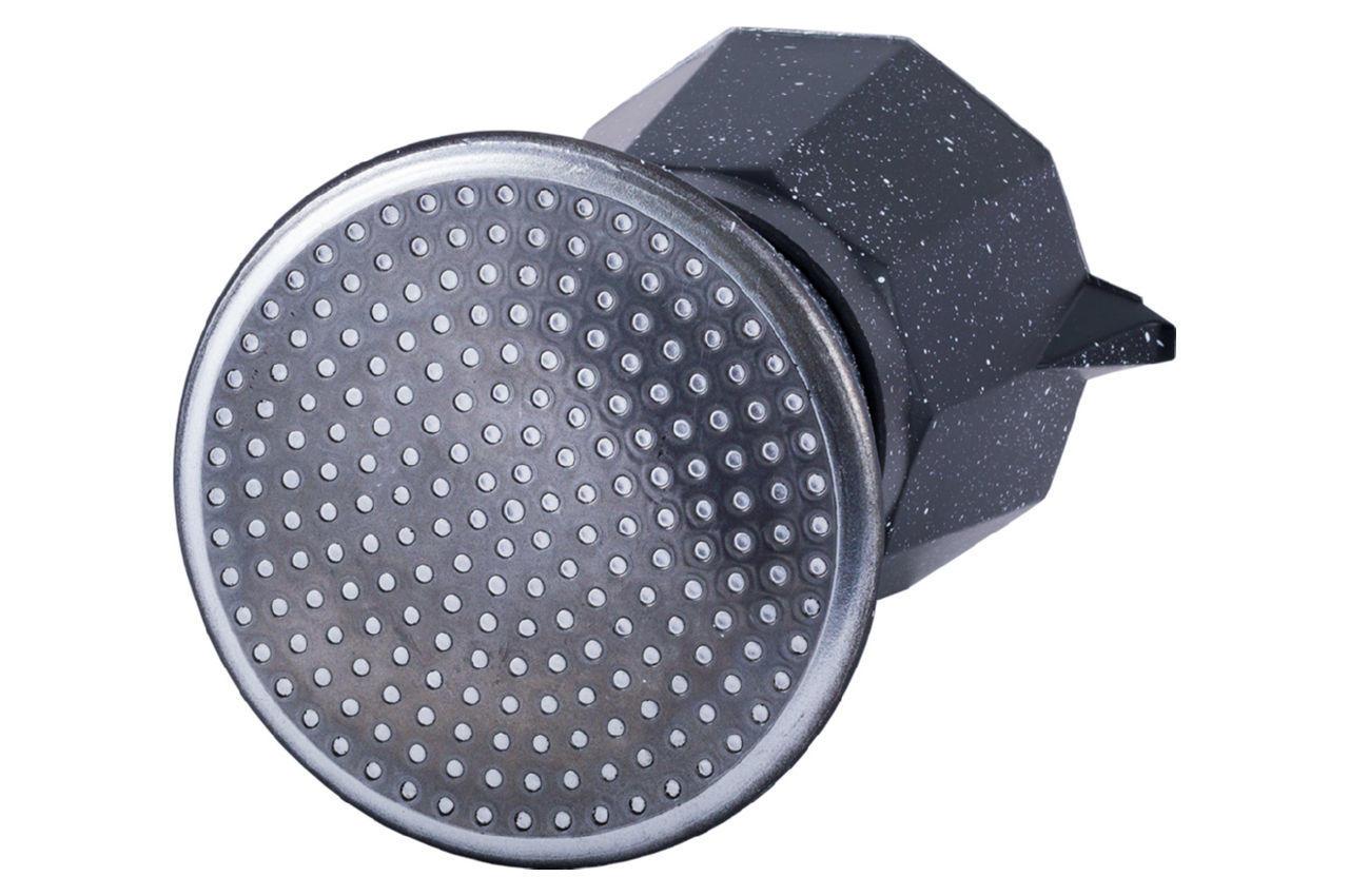 Кофеварка гейзерная алюминиевая Kamille - 600 мл  мрамор 6