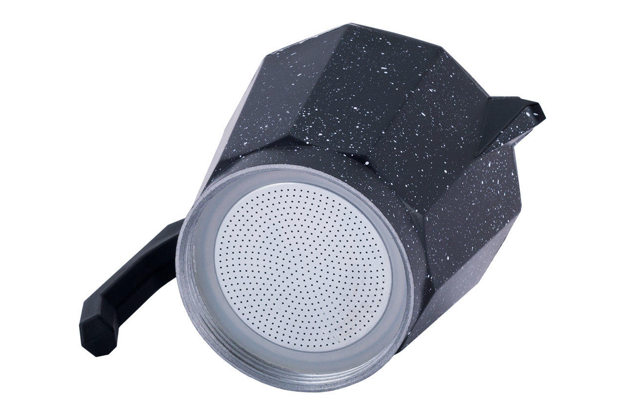 Кофеварка гейзерная алюминиевая Kamille - 600 мл  мрамор 7