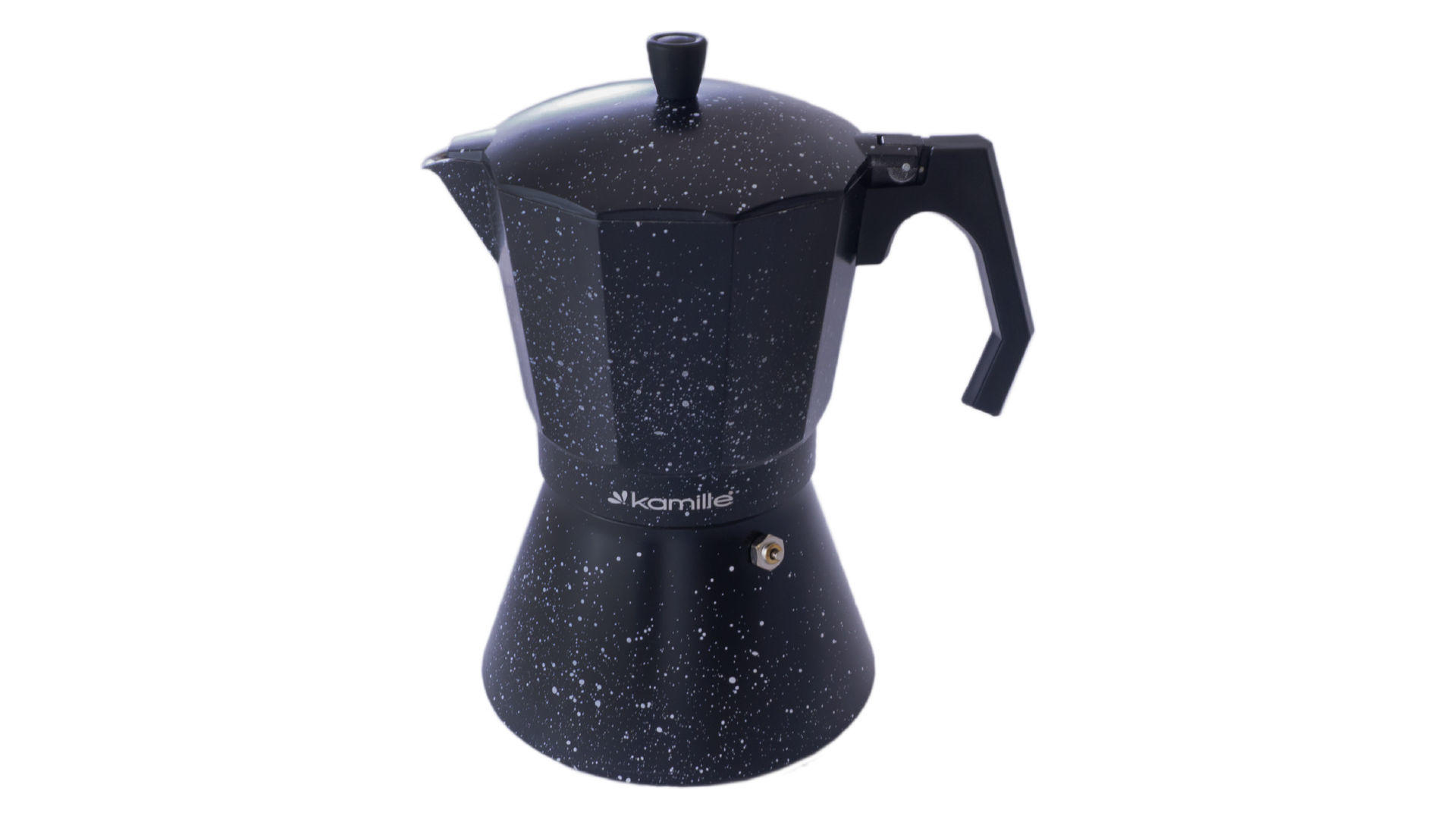 Кофеварка гейзерная алюминиевая Kamille - 600 мл  мрамор 8