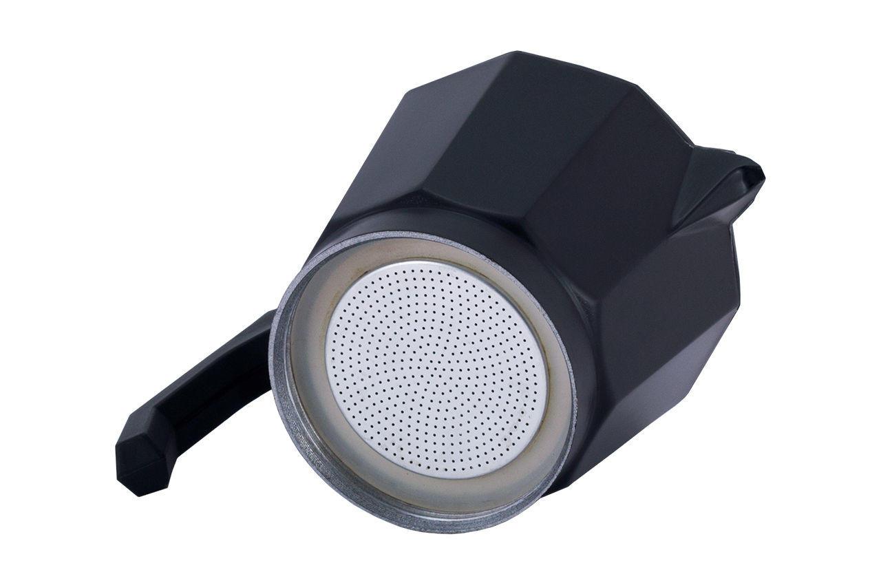 Кофеварка гейзерная алюминиевая Kamille - 450 мл индукция черная 7