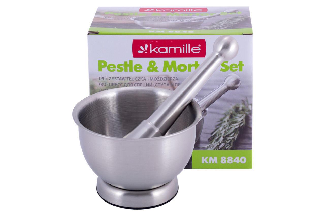Ступка с пестиком Kamille - 102 мм нержавеющая 5
