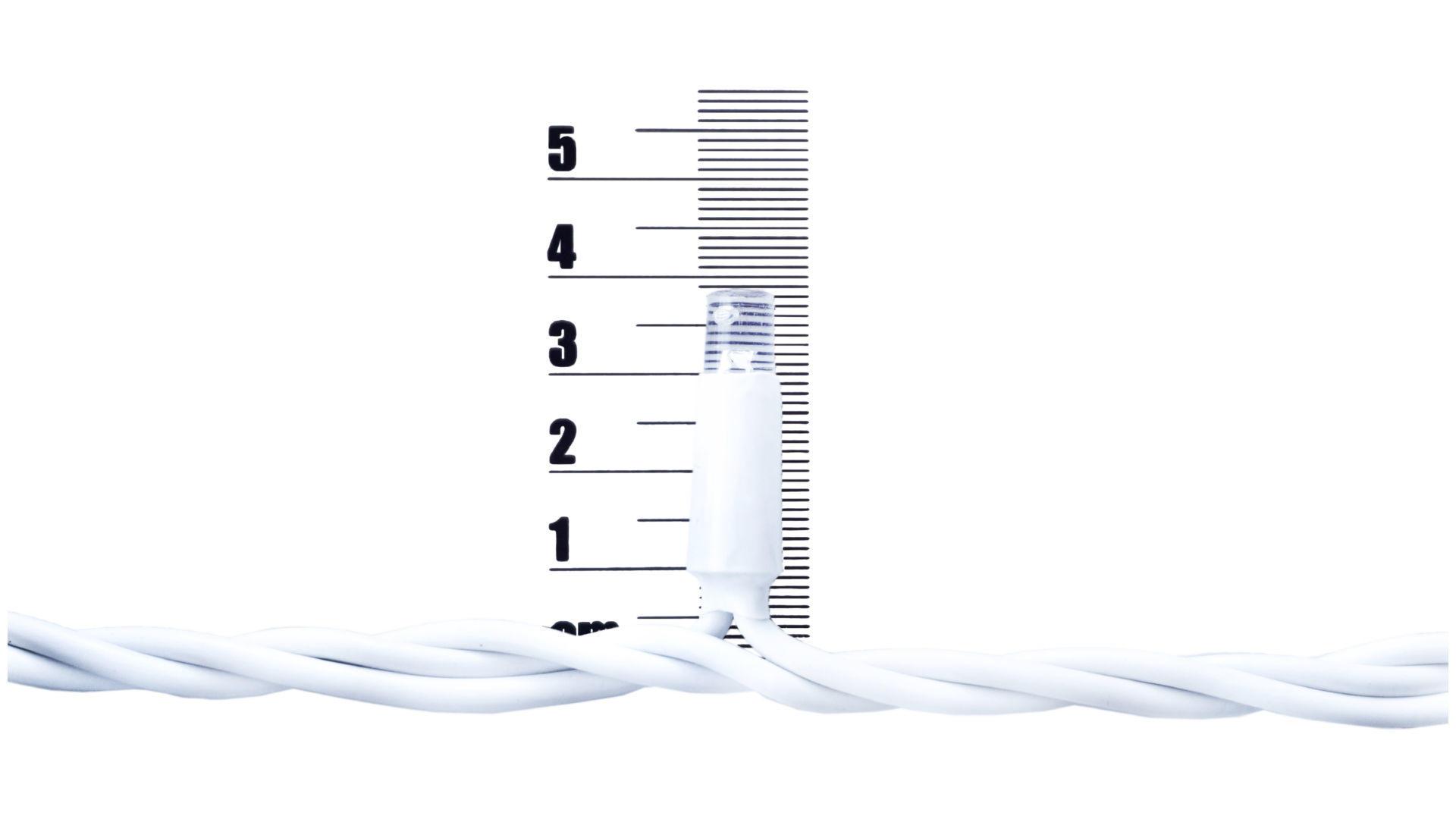 Гирлянда уличная светодиодная PRC WP - 100 LED x 11 м белая Warm White 2