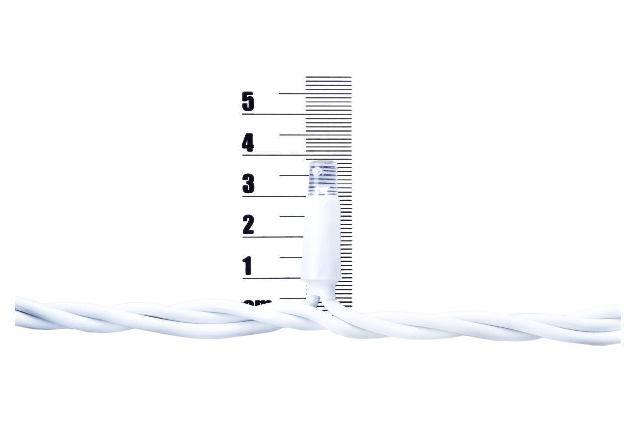 Гирлянда-дождик уличная светодиодная PRC WP - 100 LED белая Blue 1