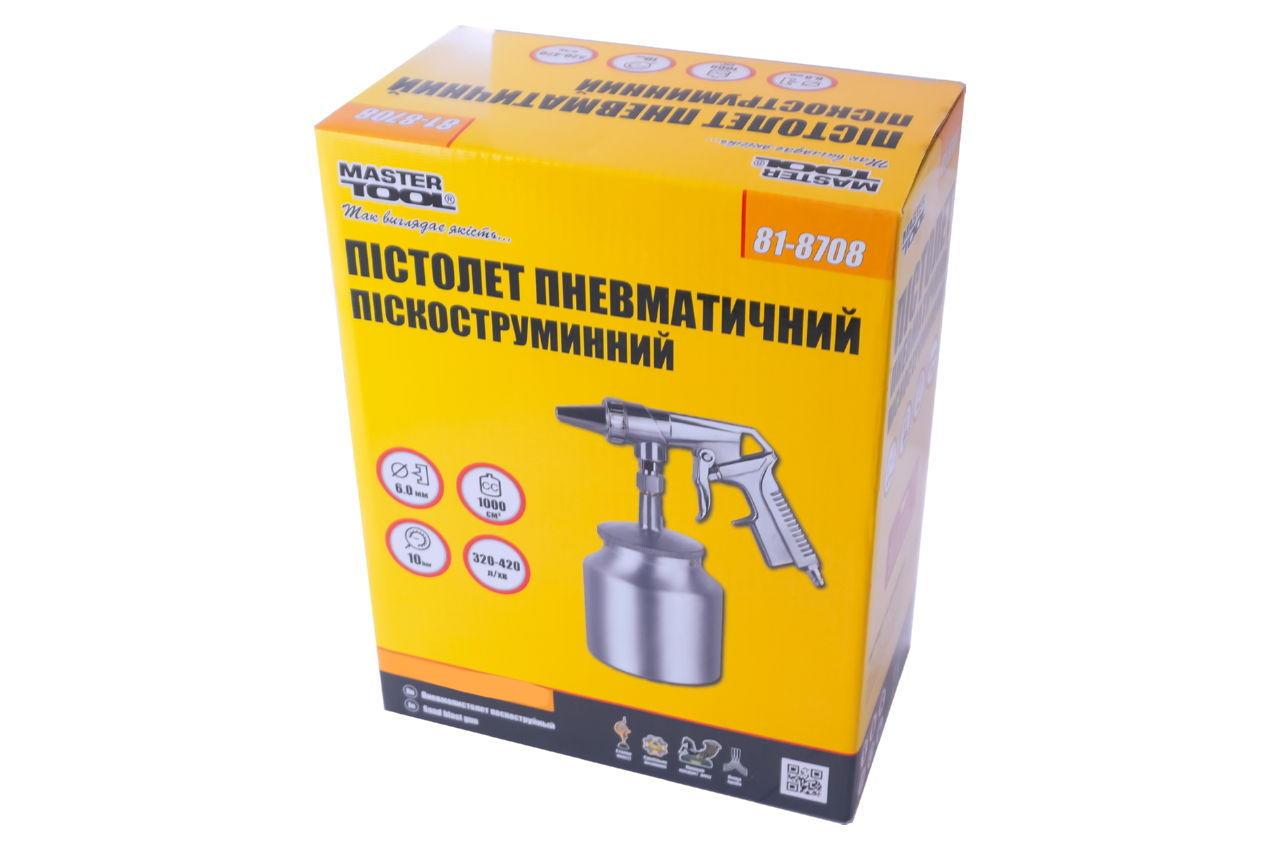 Пневмопистолет пескоструйный Mastertool - 1000 мл x 6 мм конус 4