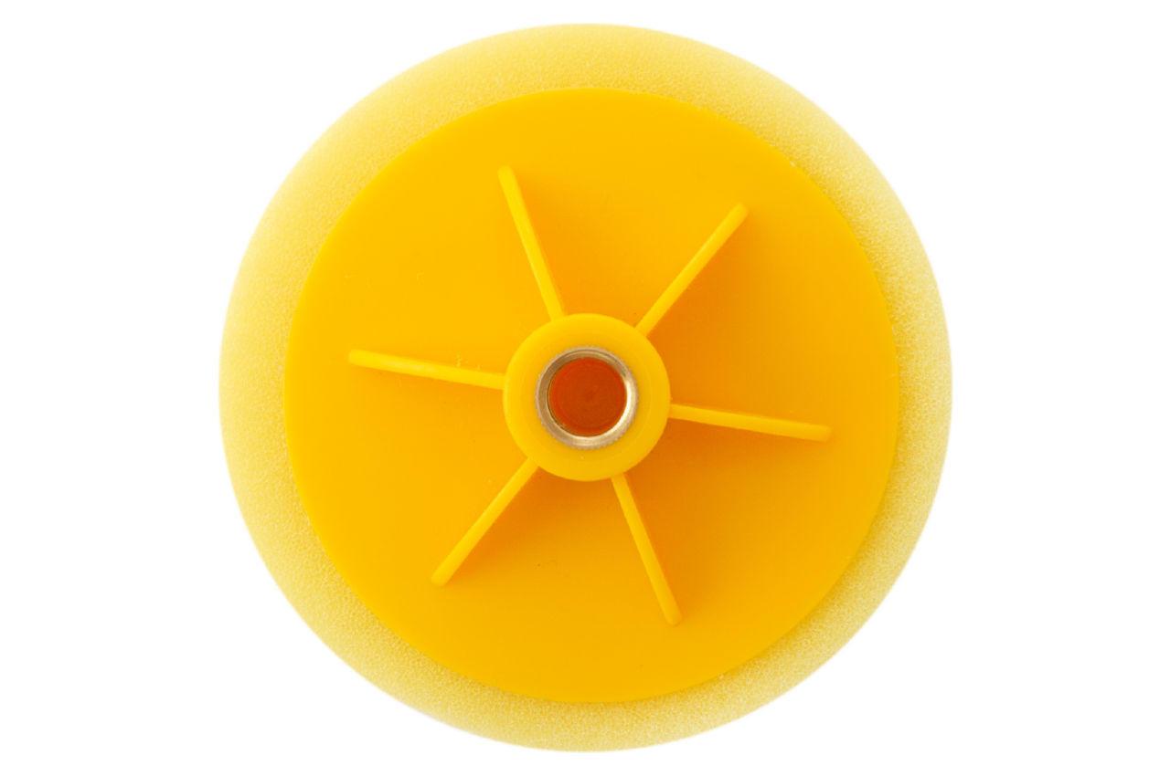 Круг полировальный поролоновый Рамболд - 125 мм x М14 желтый 2