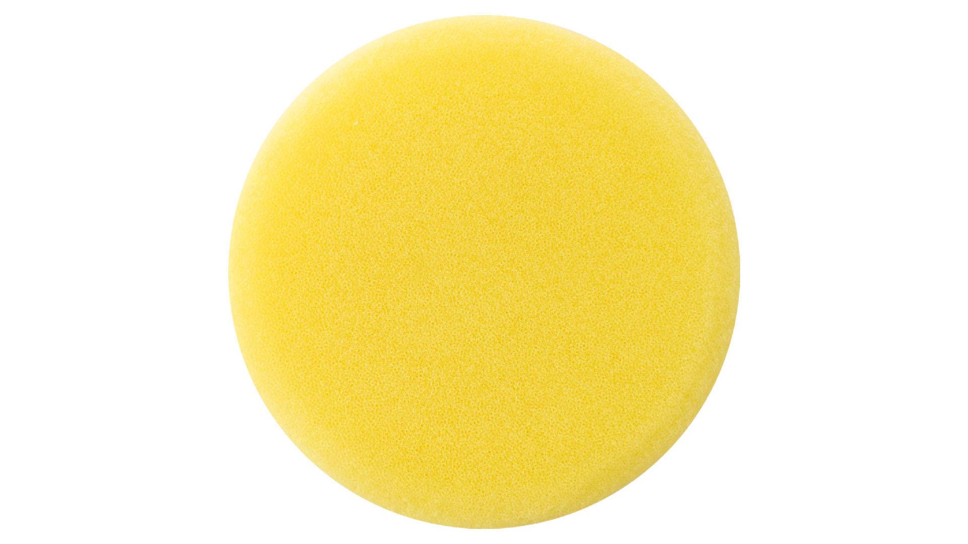 Круг полировальный поролоновый Рамболд - 125 мм x М14 желтый 4