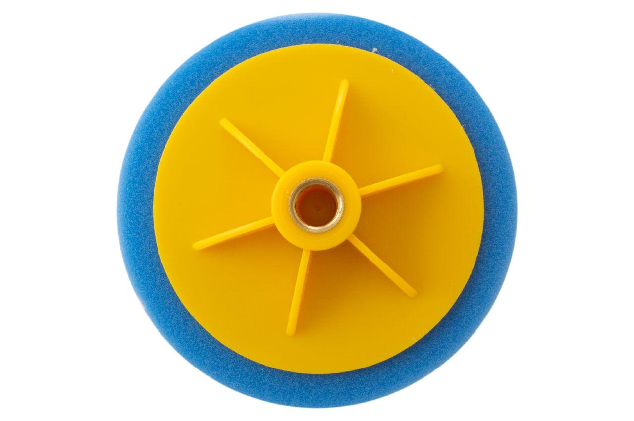 Круг полировальный поролоновый Рамболд - 125 мм x М14 синий 2