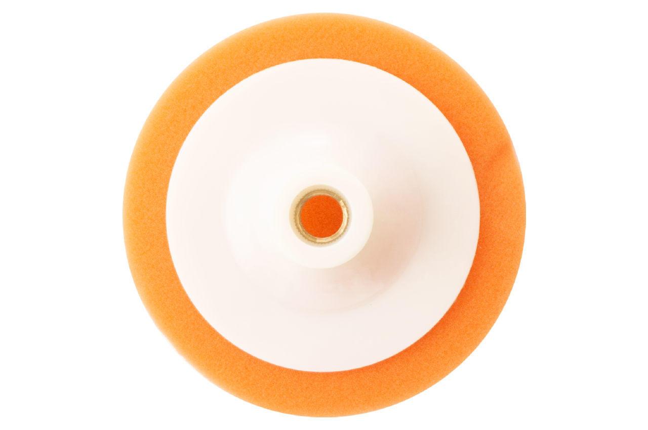 Круг полировальный поролоновый Рамболд - 125 мм x М14 оранжевый мягкий 2