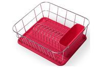 Сушилка для посуды Kamille - 430 x 330 x 135 мм красная