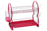 Сушилка для посуды Kamille - 550 x 245 x 380 мм красная