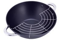 Сковорода-wok чугунная Kamille - 320 мм x 6,5 л с крышкой
