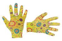 Перчатки Intertool - садовые нитриловые 8 (желтая)
