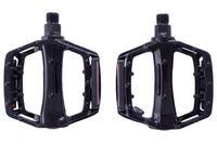 Педали Xazar - алюминиевые широкие черные (2 шт.)