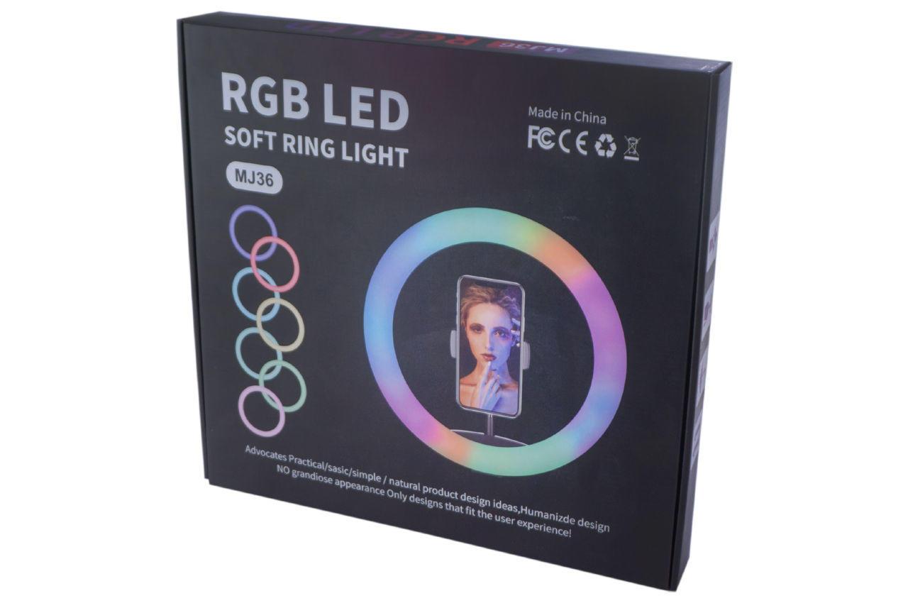 Лампа кольцевая RGB - 360 мм 6
