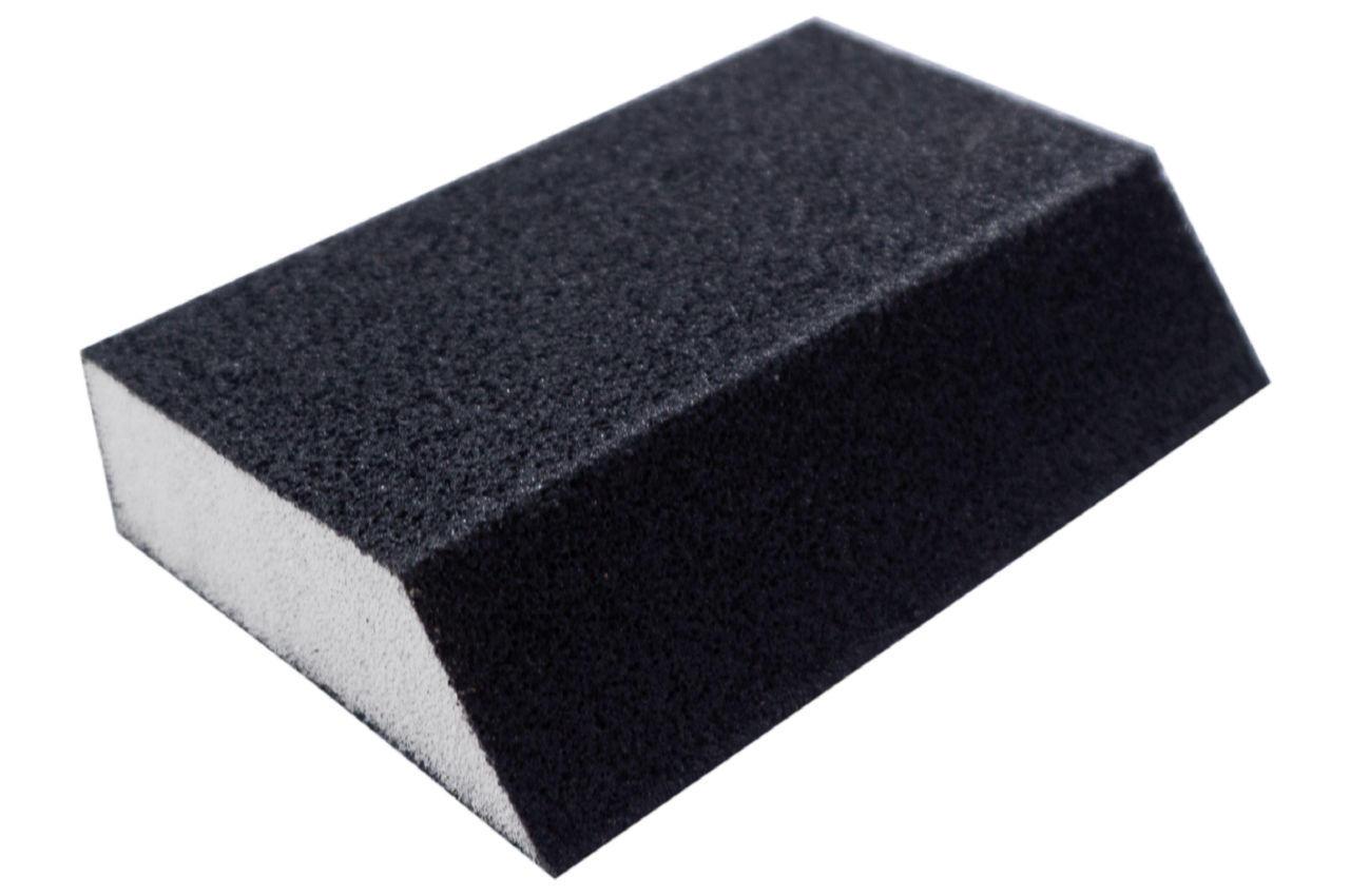 Губка шлифовальная Intertool - 110 x 75 x 25 мм x P80 трапеция 1