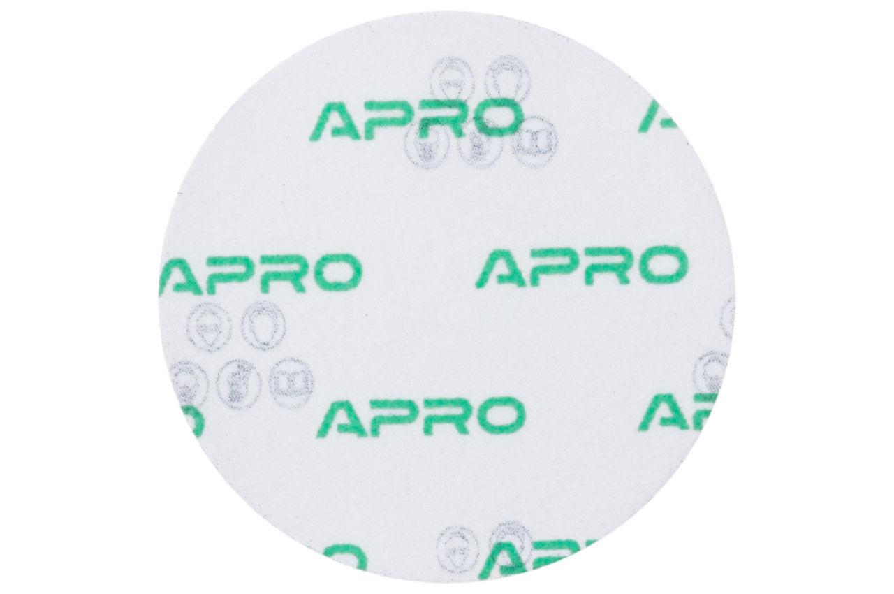 Круг шлифовальный на липучке Apro - 125мм x Р100 (10 шт.) 2