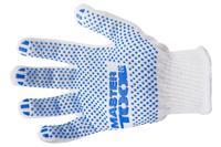 Перчатка Mastertool - 70/30 с точкой 55 г белые