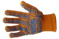 Перчатка Mastertool - 60/40 с точкой 90 г оранжевые