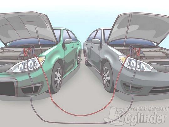 запуск двигателя на автомобиле с севшим аккумулятором